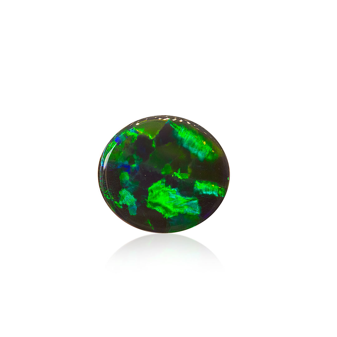 Black Opal 4.94ct featuring Rolling Flashes of Green and Blue Colours