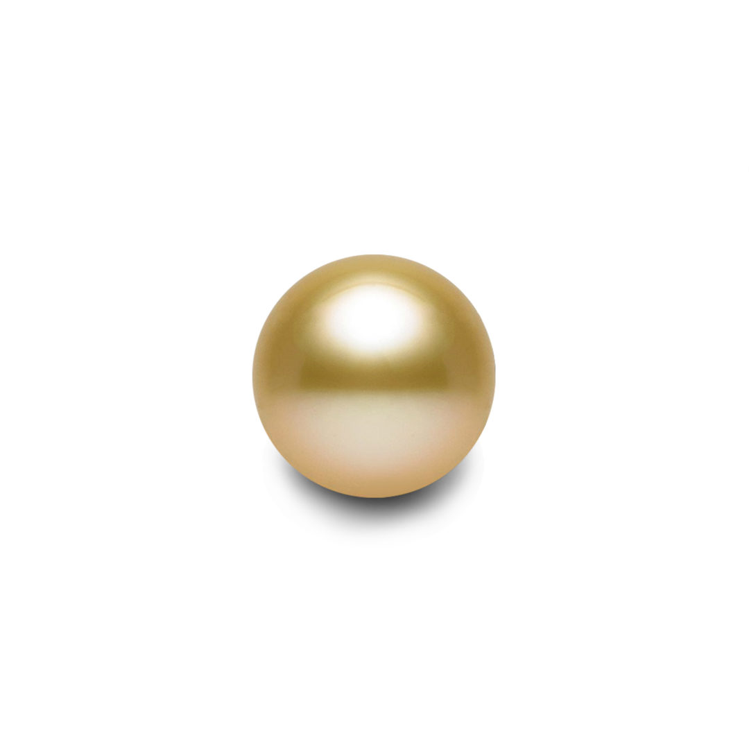 Round Australian Golden South Sea Pearl featuring Rich Gold Colour